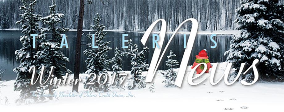 1st Quarter 2017 Newsletter