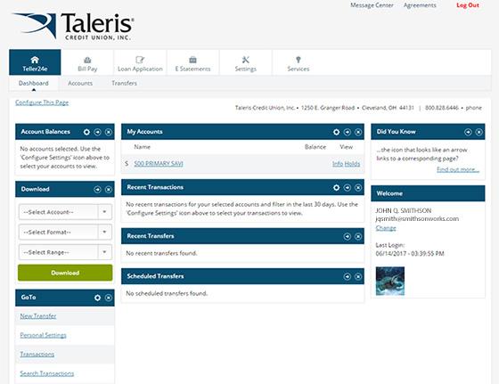 New Teller 24e Screen