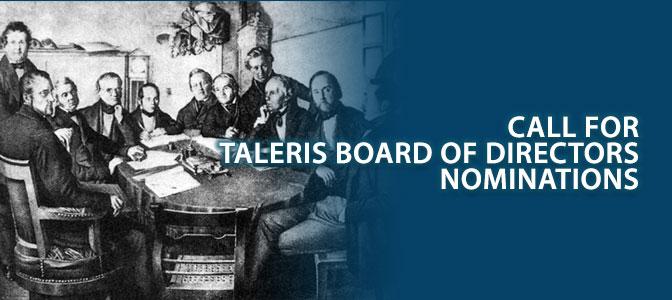 Call for Taleris Board of Directors nominations