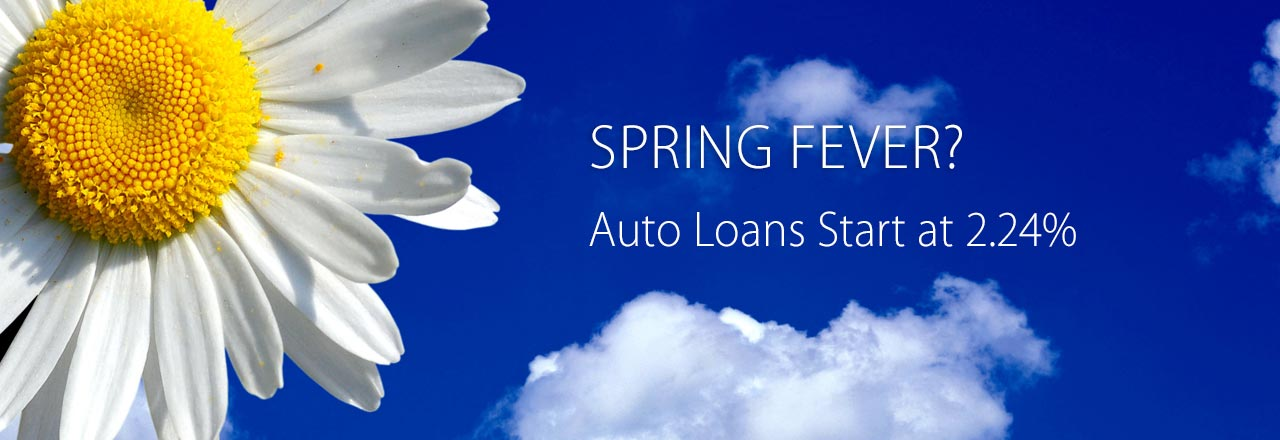 Auto Loan rates starting at 2.24%