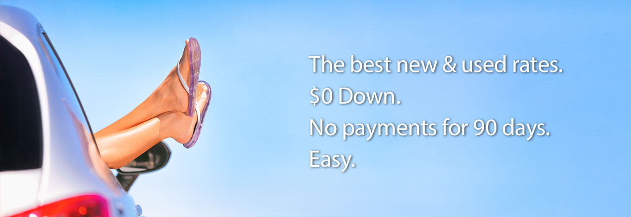 Auto Loan with $0 Down and 90 Days with No Payments